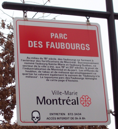 Parc des Faubourgs Sign