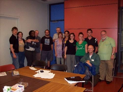 Quelques des membres du comité du parc Médéric-Martin lors du réunion récente