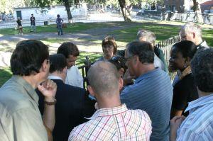 Benoit Labonté et le comité du parc